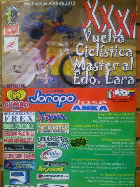 Todo un éxito la XXXI edición  de la Vuelta Master Lara