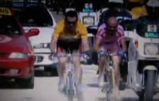 Video duelo entre Marcos Pantani y Lance  Armstrong en el Monte Ventoux