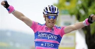 Italiano Damiano Cunego (Lampre) gana la segunda etapa del Giro del Trentino