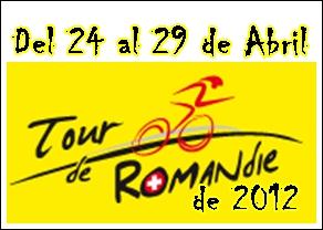 Nomina  de Equipos y Corredores del  Tour de Romandie 2012