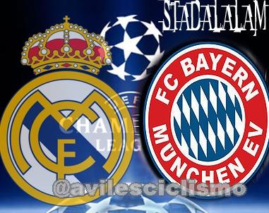 Link en Vivo para ver Online el partido de Futbol de Liga de Campeones   Real Madrid - Bayern Munchen