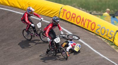 Bicicrosista Venezolana Stefany Hernández sufrió caída en la final del BMX de los XVII Juegos Panamericanos Toronto 2015