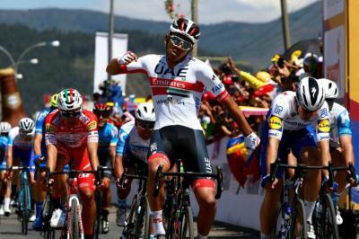 Juan Sebastián Molano (UAE Emirates repite en la etapa 3 del Tour Colombia y Caicedo sigue lider
