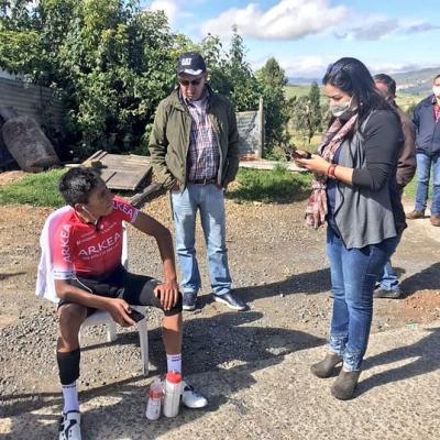Ciclista Colombiano Nairo Quintana sufrio un accidente mientras entrenaba