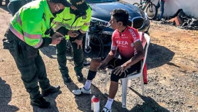 Nairo Quintana estará dos semanas en reposo total tras ser atropellado