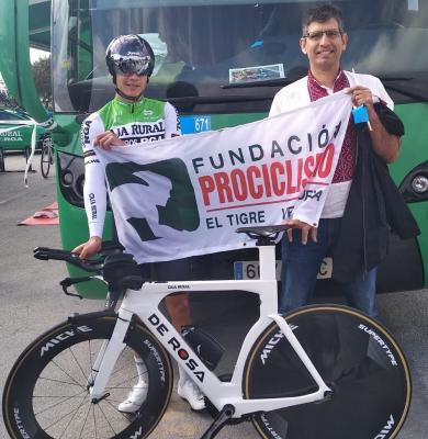 El ciclista profesional Orluis Aular alza el vuelo rumbo a España el sábado 25 de julio