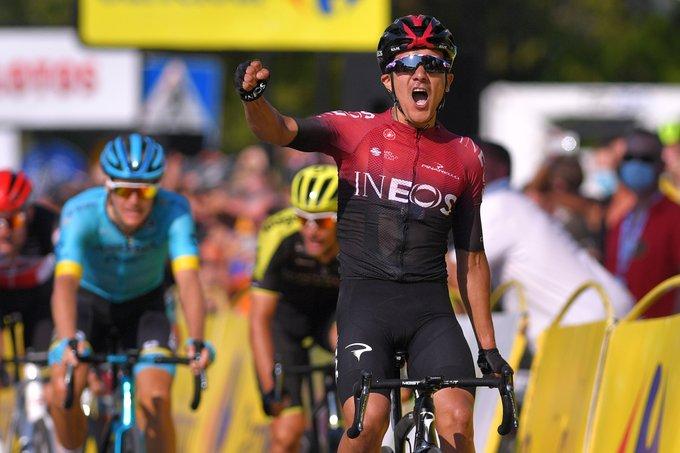 Ecuatoriano Richard Carapaz ganó la tercera etapa del tour de Polonia y es el nuevo lider
