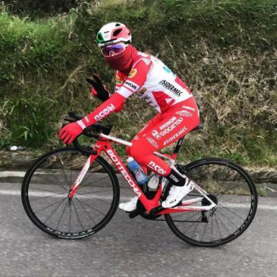 Ecuatoriano Alexander Cepeda del Androni Giocattoli Sidermec llegó 36 en la Gran Piemonte