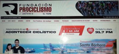 Mañana Acontecer Ciclístico por las emisoras Fe y Alegría 91.7 FM y la 940 AM en El Tigre estado Anzoategui
