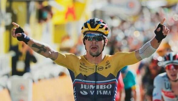 Primoz Roglic se impuso al Sprint en la cuarta etapa del Tour