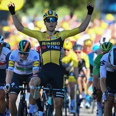 Wout Van Aert gana la etapa 5 del Tour de France y Yates es el nuevo lider