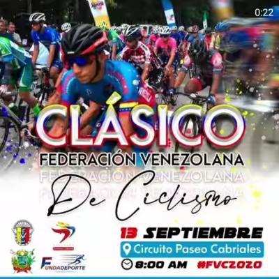 Presidente de la Federación Venezolana de Ciclismo anuncia para el próximo domingo 13 de septiembre reinicio de la temporada 2020