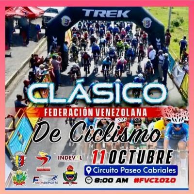 Federación Venezolana de Ciclismo tiene previsto reiniciar actividades el próximo domingo 11 de octubre