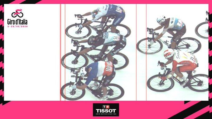 El francés Arnaud Demare ganó la cuarta etapa del Giro De Italia en una espectacular llegada