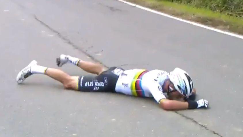 Campeón mundial de ruta Julian Alaphilippe sufre terrible caída en el Tour de Flandes