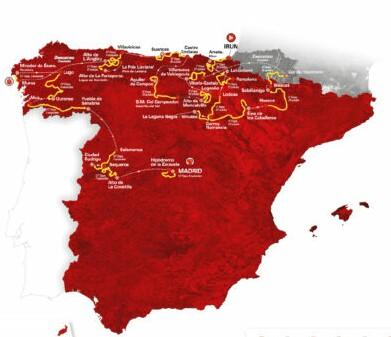 Etapas y equipos de la Vuelta a España 2020