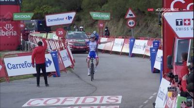 Vuelta a España: El Frances David Gaudu ganó en solitario la etapa 11 y Roglic sigue lider