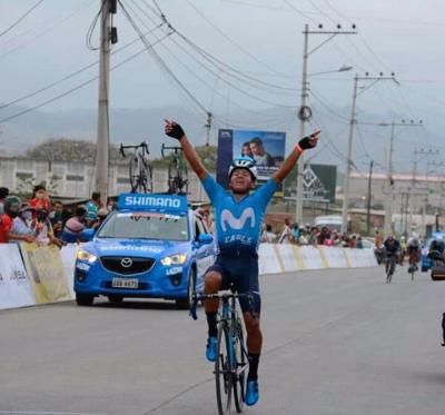 Cristian Toro ganó la primera etapa de la Vuelta Ciclística al Ecuador