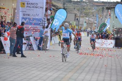 Byron Guamá repite victoria en la etapa 3 de la Vuelta Ciclistica a Ecuador