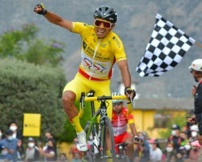 Santiago Montenegro ratificó su liderato y se erigió como campeón de la Vuelta al Ecuador