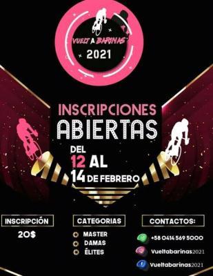 La Vuelta a Barinas se efectuara del 12 al 14 de febrero