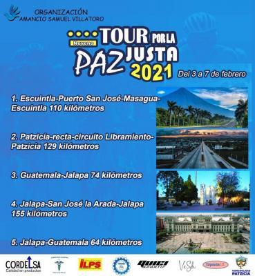 Del 3 al 7 de febrero se correrá en Guatemala el Tour por la Paz Justa