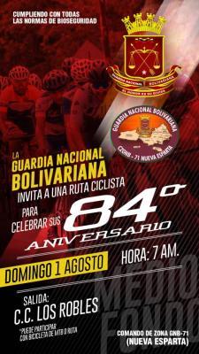 Fundación de ciclismo menor Victor Márval debutará este domingo 1ro de Agosto en el festival Ciclistico 84 aniversario de la Guardia Nacional Bolivariana