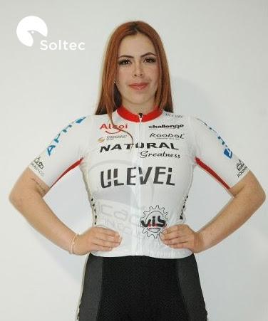 Ciclista venezolana Maryoly Sosa ficho con el equipo Continental Soltec Team de España