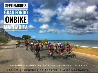 Este 08 de Septiembre se correrá en Margarita  el Gran  Fondo Ciclistico en honor a la  Santísima Virgen Del Valle