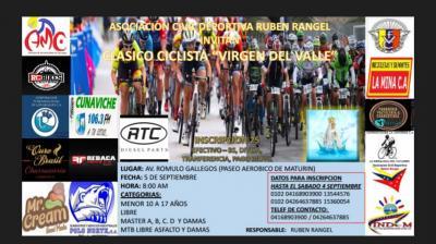 """La Fundación Civil Deportiva Rubén Rangel, anuncio  que se han separado las categorías del Clásico Ciclistico """"Virgen Del Valle"""""""