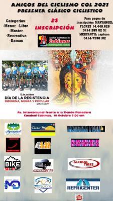 """El 10 de Octubre se correra en Cabimas Edo Zulia el Clásico Ciclistico """"Día de la Resistencia Indígena"""""""