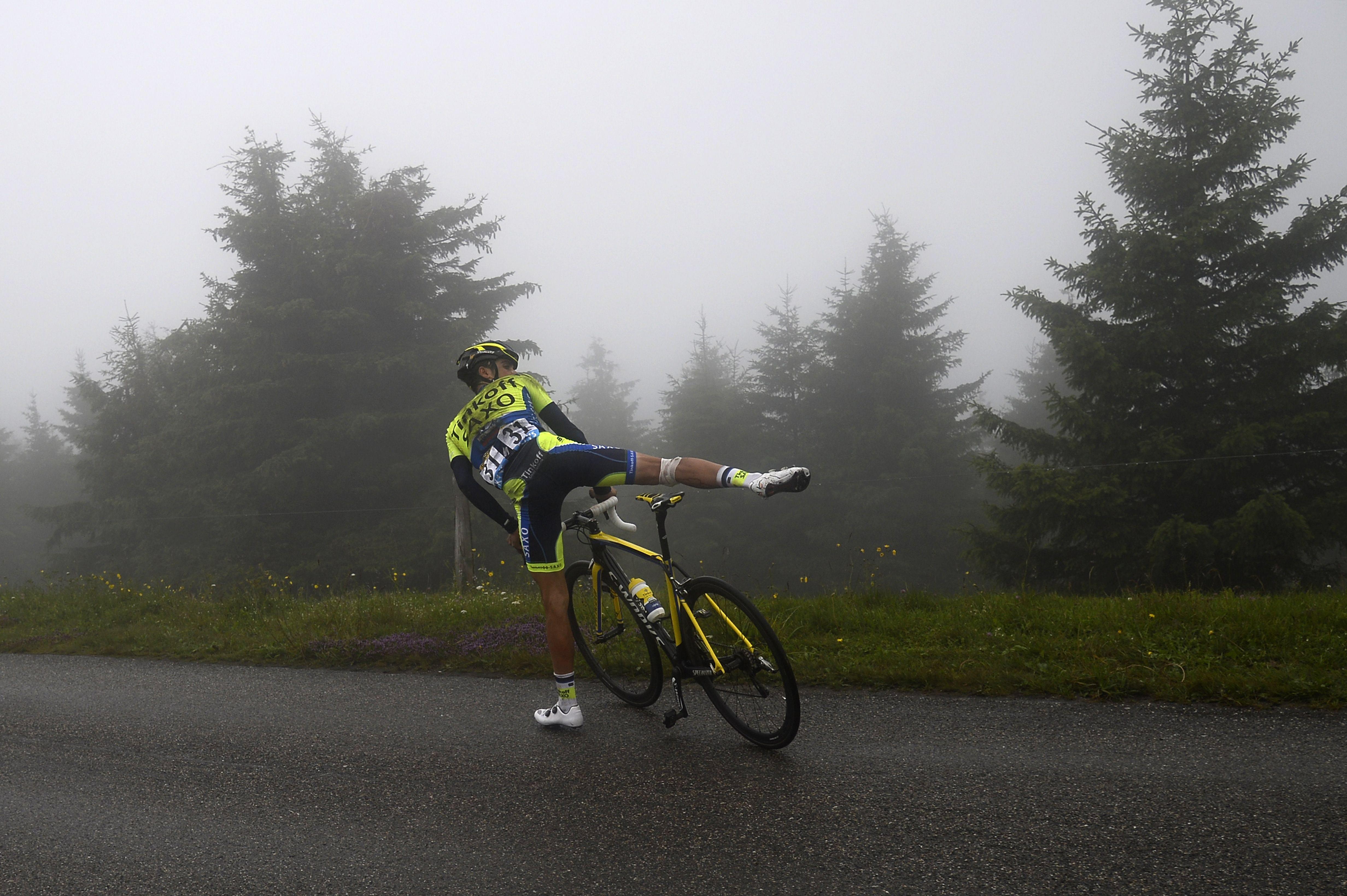 Contador abandona la décima etapa